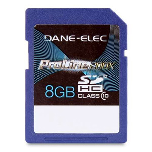 Dane Elec High Speed 8 GB Class 10 Secure Digital Card DA-SD-1008G-C