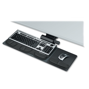 "Fellowes Professional Series Compact Keyboard Tray - 5.8"" x 27.5"" x 21.2"" - Black"