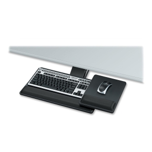 "Fellowes Designer Suites Premium Keyboard Tray - 3.0"" x 27.5"" x 19.0"" - Black"