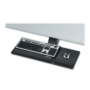Fellowes Designer Suites Compact Keyboard Tray - 3.0&quot; x 27.5&quot; x 18.0&quot; - Black
