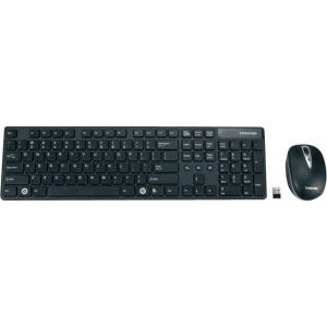 Toshiba PA3871U-1ETB Keyboard and Mouse - USB Wireless RF Keyboard - 104 Key - USB Wireless RF Mouse - Optical - 1600 dpi - 3 Button - Scroll Wheel - QWERTY