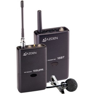 Azden 105LT Wireless Microphone System - 566.25MHz to 589.75MHz System Frequency