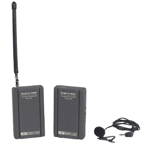 AmpliVox S1600 Wireless Leapel Microphone System Kit - 171.1MHz, 171.85MHz System Frequency