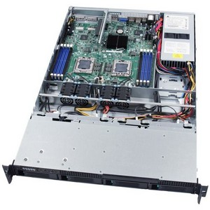 Intel SR1695WBACNA Barebone System - 1U Rack-mountable - Intel 5500 Chipset - Socket B LGA-1366 - 2 x Processor Support - Serial ATA/300 RAID Supported Controller - 4 x Total Bays - 1 x Total Expansion Slots - Processor Support (Xeon)