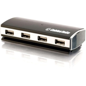 C2G 29508 4-port USB Hub - 4 x 4-pin Type A Female USB 2.0 USB Downstream, 1 x Mini USB - Type B Female USB 2.0 USB Upstream - External