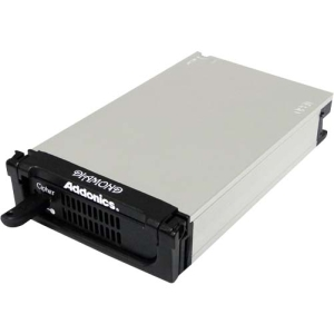 "Addonics Diamond Storage Enclosure - External - Gray, Black 1 x 3.5""Internal - Serial ATA, USB, eSATA"