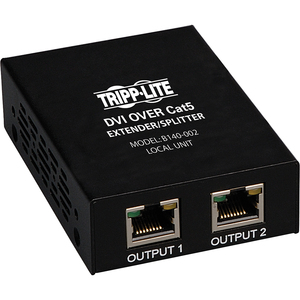 Tripp Lite B140-002 Video Extender - 1 Input Device - 2 Output Device - 200 ft Range - 2 x Network (RJ-45) - 1 x DVI In