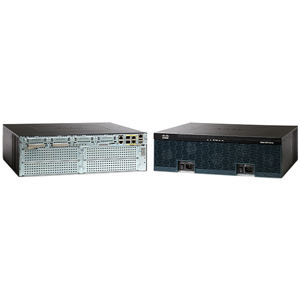 Cisco 3925 Integrated Services Router - 2 x SFP (mini-GBIC), 3 x Services Module, 4 x HWIC, 4 x PVDM, 2 x CompactFlash (CF) Card - 3 x 10/100/1000Base-T WAN