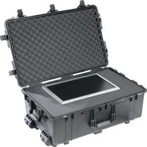 "Pelican 1650 Shipping Case with Foam - Internal Dimensions: 10.65"" Height x 28.57"" Width x 17.52"" Depth - External Dimensions: 12.5"" Height x 31.6"" Width x 20.5"" Depth - Polyurethane, Stainless Steel, ABS Plastic, Polyethylene, Copolymer - Black"