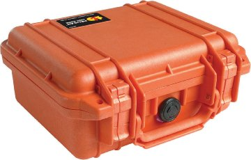 Pelican 1200 Carrying Case for Travel Essential - Orange - Stainless Steel, Copolymer