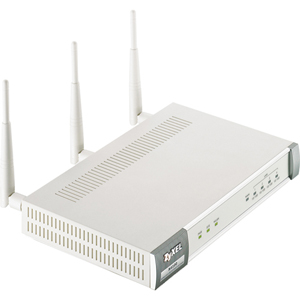 Zyxel N4100 Wireless Router - IEEE 802.11n - 3 x Antenna - ISM Band - 300 Mbps Wireless Speed - 4 x Network Port - 1 x Broadband Port
