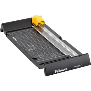 "Fellowes Neutrino 90 Rotary Trimmer - 1 x Blade(s)Cuts 5 Sheet - 9"" Cutting Length - Plastic, Metal - Black"