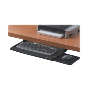 "Office Suites Office Suites Deluxe Keyboard Drawer - 2.5"" x 20.5"" x 11.1"" - Black, Silver"