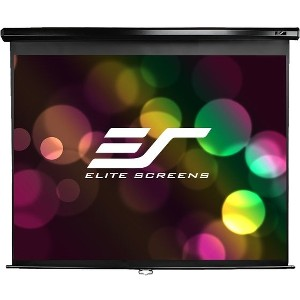 "Elite Screens Manual M80UWH Projection Screen - Manual - 39.6"" x 69.6"" - MaxWhite - 80"" Diagonal - 16:9 - Wall Mount, Ceiling Mount"