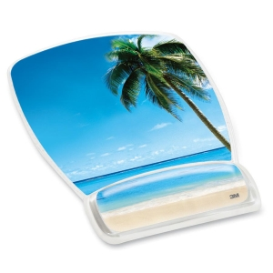 3M Beach Design Gel Mouse Pad Wrist Rest - 8.6
