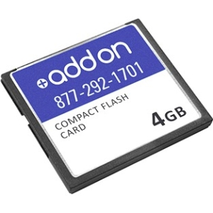 AddOn - Memory Upgrades FACTORY APPROVED 4GB CompactFlash card F/Cisco - 4 GB