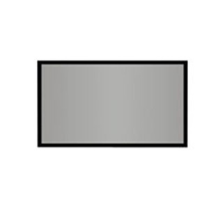 "AccuScreens 800025 Fixed Frame Projection Screen 56.3"" x 97"" - High Contrast Gray - 106"" Diagonal"