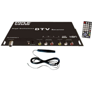 Pyle PLTVATSC1 Car TV Tuner - Functions: TV Tuning, Digital TV Receiver, Video Decoding - ATSC