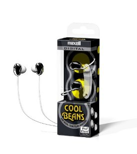 Maxell 190257 Cool Beans Earphone - Stereo - Black - Mini-phone - Wired - 20 Hz 22 kHz - Earbud - Binaural - Open - 4 ft Cable