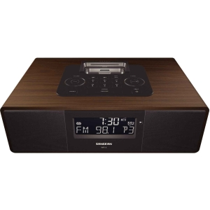 Sangean WR-5 Desktop Clock Radio - 5 W RMS - Stereo - Apple Dock Interface - 2 x Alarm - FM, AM