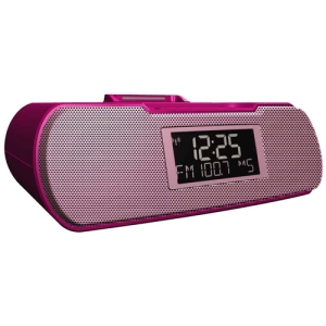 Sangean RCR-10 Desktop Clock Radio - 8 W RMS - Stereo - Apple Dock Interface - 2 x Alarm - AM, FM