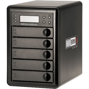 MicroNet RAIDBank5 RB5-5000 DAS Array - 5 TB Installed HDD Capacity - RAID Supported - 5 x Total Bays - USB 3.0, eSATA, FireWire/i.LINK 400, FireWire/i.LINK 800 Tower