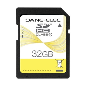 Dane-Elec 32GB Secure Digital High Capacity (SDHC) Card - 117x Memory Speed