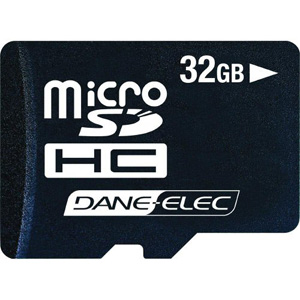 Dane Elec 32GB Micro Secure Digital Card with SD Adaptor - DA-2IN1-32G-R