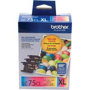 Brother LC753PKS Ink Cartridge - Cyan, Magenta, Yellow - Inkjet - 3 / Pack