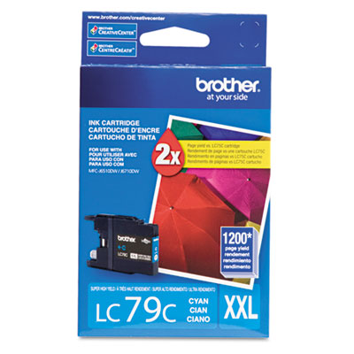 Brother Innobella LC79C High Yield Ink Cartridge - Cyan - Inkjet - 1200 Page - 1 Each