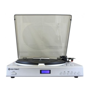 Mutant MIG-MT201 Record Turntable - Direct Drive - Automatic - 33.33, 45, 78 rpm - Secure Digital (SD) Card, MultiMediaCard (MMC)