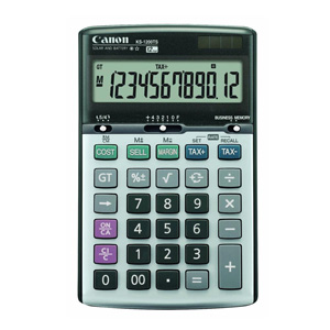 Canon KS-1200TS 12-Digit Desktop Calculator with Tax Function