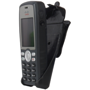 "zCover gloveOne CI925 Unified Wireless IP Phone Holster - 7.4"" x 5.3"" x 6.6"" - Plastic - Black"