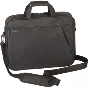 Targus Chromatic Top-Loading Case Designed for 16 Inch Laptops TBT060US (Black W/Green Stitching)