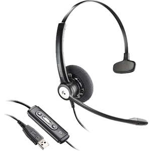 Plantronics Blackwire C610 Headset - Mono - USB - Wired - Over-the-head - Monaural - Semi-open