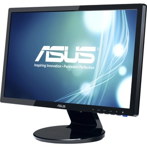 Asus VE208T 20&quot; LED LCD Monitor - 16:9 - 5 ms - Adjustable Display Angle - 1600 x 900 - 16.7 Million Colors - 250 Nit - 10,000,000:1 - Speakers - DVI - VGA - Black - Energy Star, RoHS, WEEE