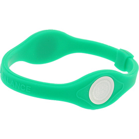Core Balance Power Silicone Wristband, Medium (Green)