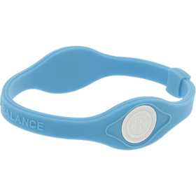 Core Balance Power Silicone Wristband, Large (Blue)