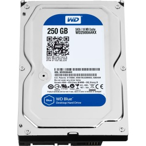 "WD Caviar Blue Desktop WD2500AAKX 250 GB 3.5"" Internal Hard Drive - 1 Pack - SATA - 7200 rpm - 16 MB Buffer"