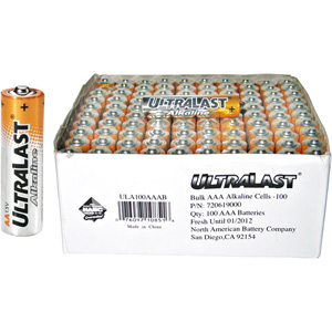UltraLast 100 AAA Battery Bulk Value Pack - Alkaline - 1.5V DC ULA100AAAB