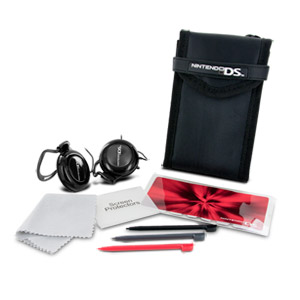 Nintendo DS On-the-Go Kit - DS Case, 3 Stylus, Protectors & Headphones)