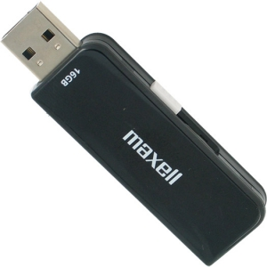 Maxell 16GB USB Slider 2.0 Flash Drive  (Black)