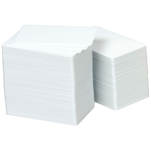 "Zebra Premier Plus PVC Card - 2.12"" x 3.38"" - 100 / Pack - White"