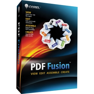 Corel PDF Fusion - 1 User - PDF Conversion/Viewing - Complete Product - Standard - Mini Box Retail - PC - English