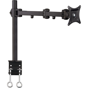 SIIG CE-MT0P11-S1 Desk Mount for Flat Panel Display - 13&quot; to 27&quot; Screen Support - 22.00 lb Load Capacity - Steel - Black