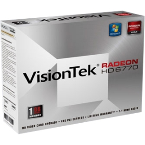 Visiontek 900368 Radeon HD 6770 Graphic Card - 1 GB GDDR5 SDRAM - PCI Express 2.1 x16 - CrossFireX - HDMI - DVI - VGA