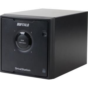 Buffalo DriveStation Quad HD-QLU3R5 DAS Array - 4 x HDD Installed - 12 TB Installed HDD Capacity - Serial ATA/300 Controller - RAID Supported - 4 x Total Bays - USB 3.0