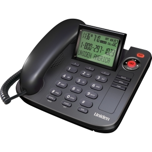 Uniden 1360BK Standard Phone - Black - 1 x Phone Line - Caller ID - Speakerphone