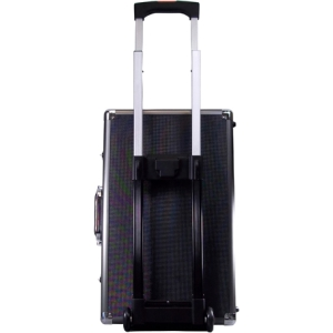 "Ape Case Large Roller Hard Case - Internal Dimensions: 13.5"" Height x 7.5"" Width x 21"" Length21.5"" Length - Aluminum, Steel, ABS Plastic - Black, Gray"
