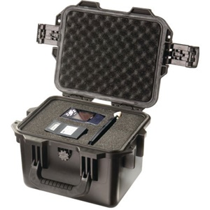 "Hardigg Storm Case iM2075 Shipping Case with Cubed Foam - Internal Dimensions: 7.50"" Height x 9.50"" Width x 7.25"" Depth - External Dimensions: 9.8"" Height x 11.8"" Width x 7.7"" Depth - Resin - Black"
